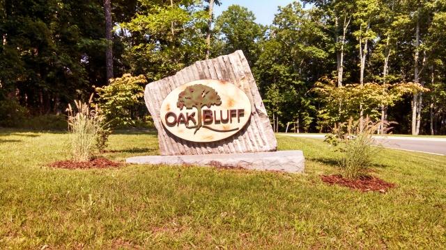 oak bluff sign